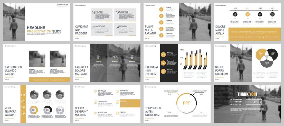 Presentación de negocios en PowerPoint de plantillas de diapositivas a partir de elementos infográficos.