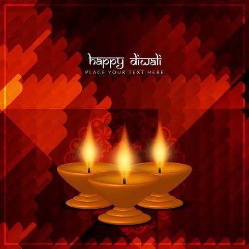 Abstrakt vacker lycklig Diwali hälsning bakgrund