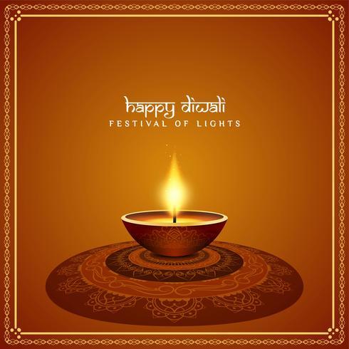Abstrakt vacker Happy Diwali festival bakgrund