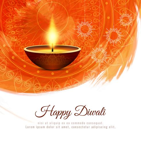 Abstract beautiful Happy Diwali festival greeting background vector