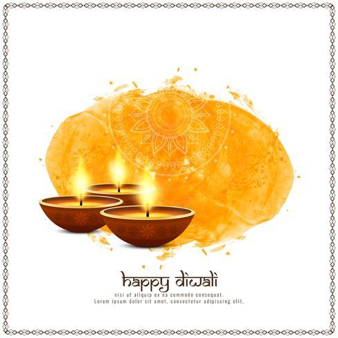 Abstrakt stilfull Happy Diwali festival hälsning bakgrund
