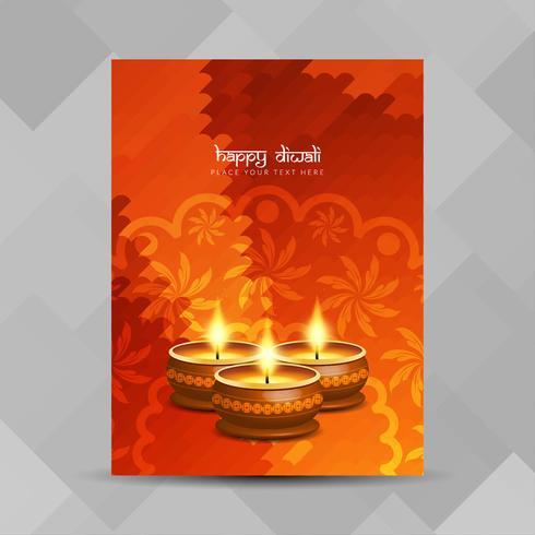 Progettazione dell'opuscolo festival Diwali astratto felice vettore