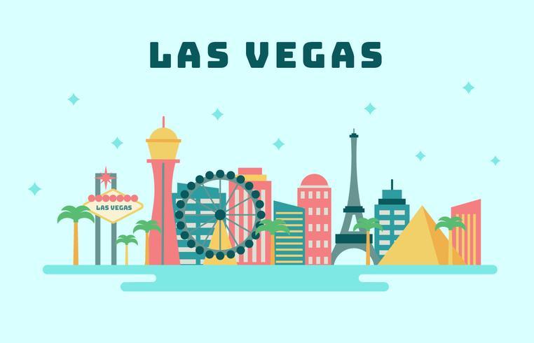 Las Vegas City Skyline Vector