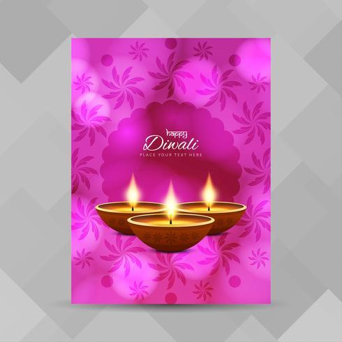Plantilla de diseño de folleto abstracto feliz Diwali vector
