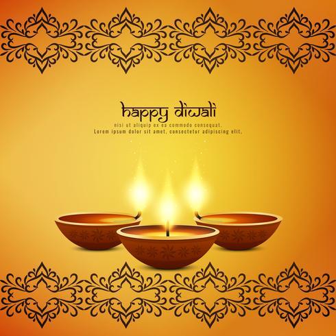 Abstrakt konstnärlig Glad Diwali dekorativ bakgrund