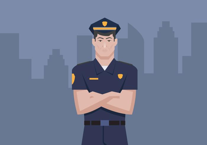 Illustration vectorielle de policier