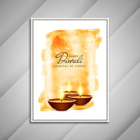 Abstrakt Happy Diwali broschyrdesign