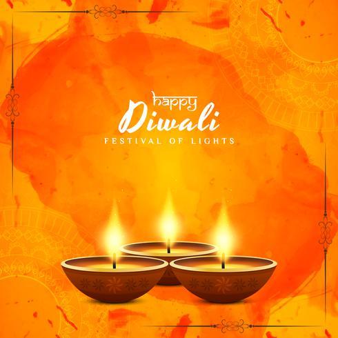 Abstrakt Glad Diwali vektor bakgrund
