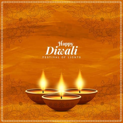 Abstrakt Glad Diwali vacker religiös bakgrund
