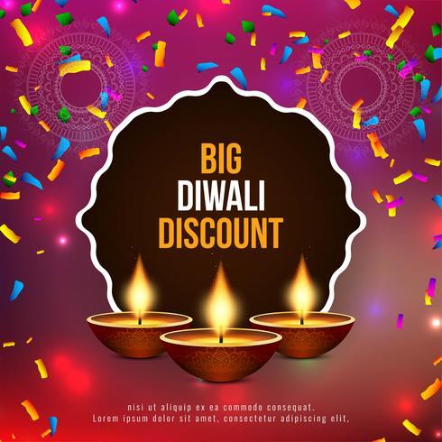 Fondo de oferta de descuento abstracto feliz Diwali