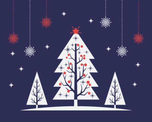 Bakcground de árvore de Natal de meados do século vetor