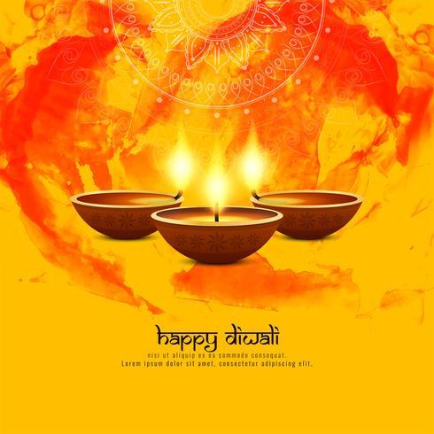 Abstrakt Glad Diwali dekorativ bakgrund