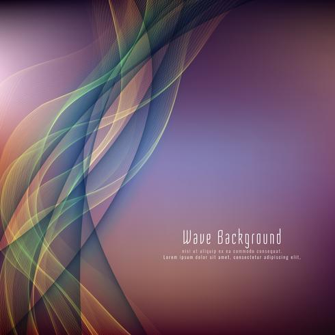 Fondo colorido elegante abstracto de la onda vector