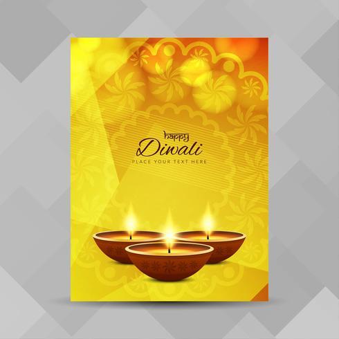 Plantilla de diseño de folleto abstracto feliz Diwali