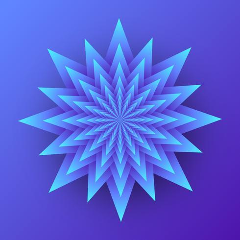 3D Geometric Flower Layered Paper Art