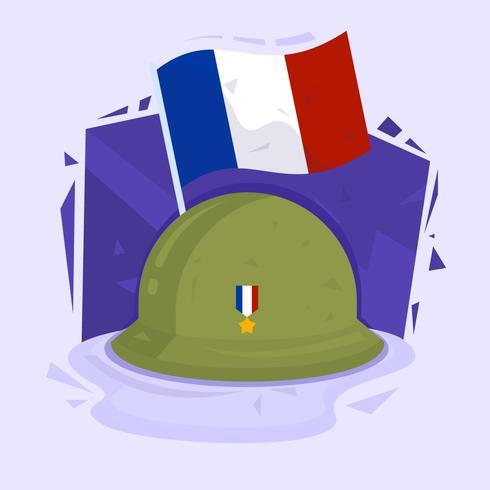 Französische Waffenstillstand-Tag-Vektor-Illustration