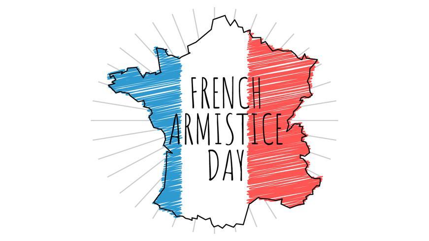Herausragende französische Tag des Waffenstillstandes vektor
