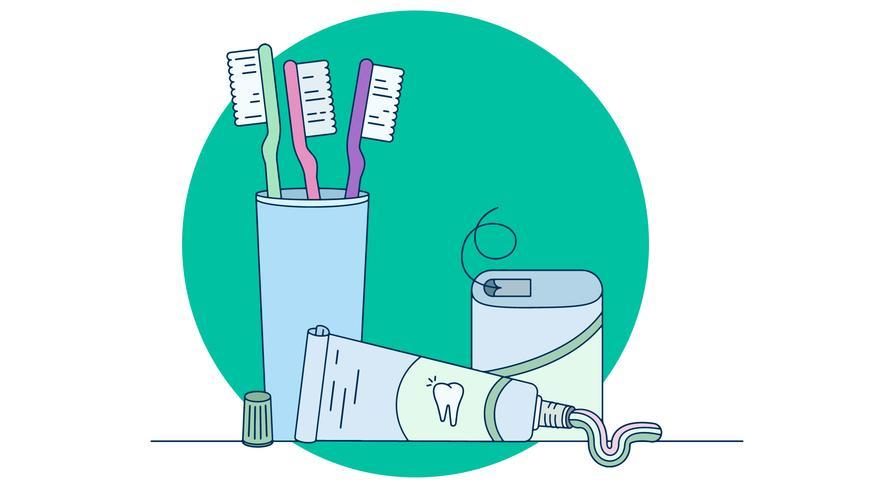 Vecteur de soins dentaires