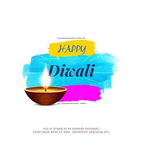 Abstrakt stilfull religiös Happy Diwali bakgrund