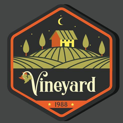 Wijngaard Badge Vector Design