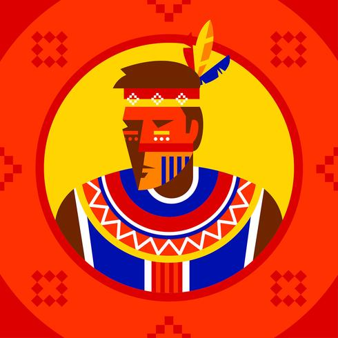 Indigenous People Character