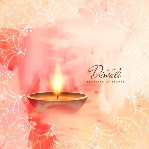 Abstrakt vacker Glad Diwali festival hälsning bakgrund
