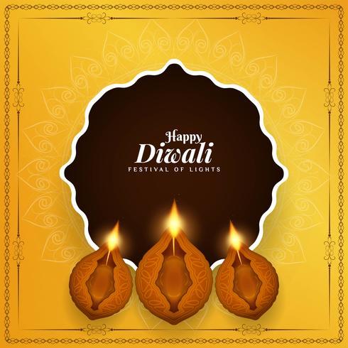 Abstrakt Glad Diwali Indisk festival bakgrund