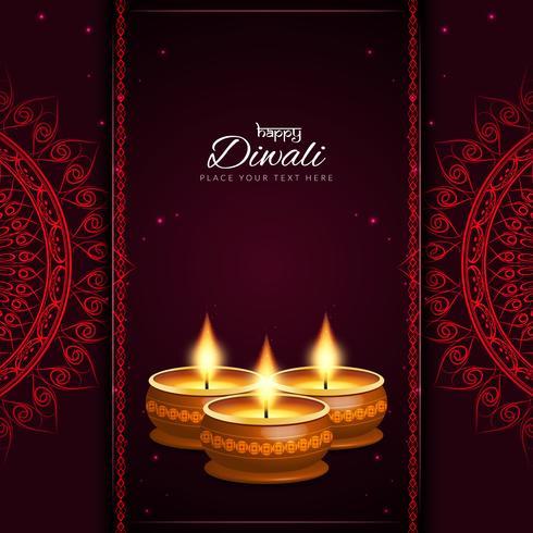 Abstracte decoratieve Gelukkige Diwali-achtergrond vector