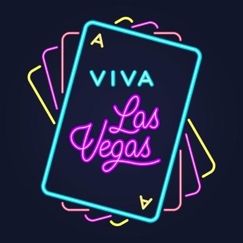 Typographie de lettrage de nuit style casino Broadway de Las Vegas