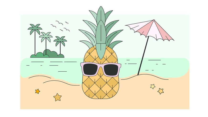 Holiday Pineapple Vector