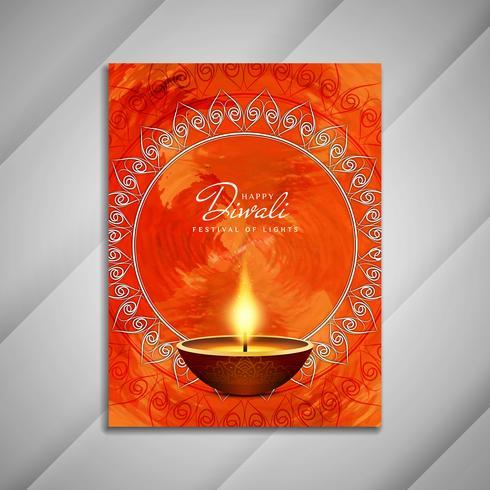 Abstraktes glückliches Diwali-Broschürendesign
