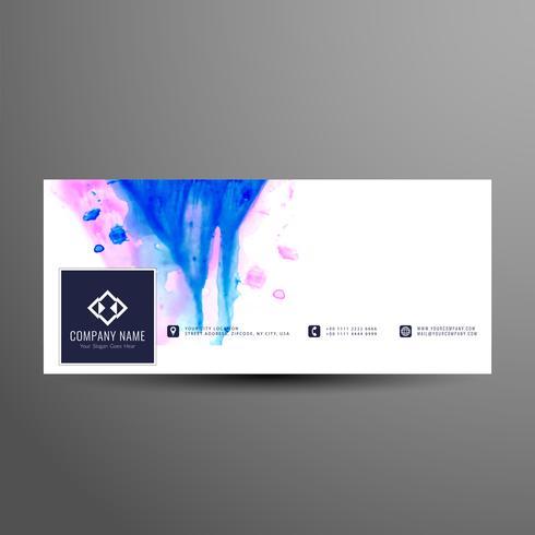 Plantilla de banner de Facebook timeline abstracto elegante