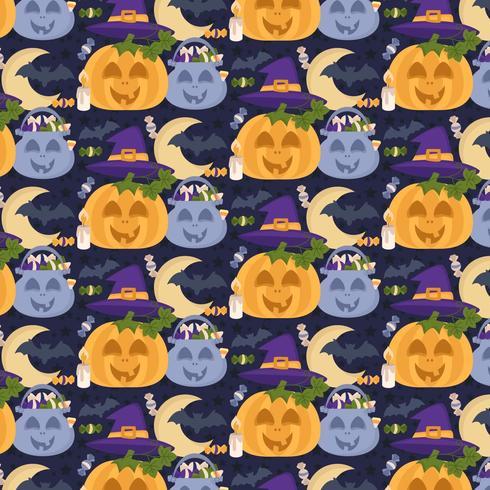 Vektor sömlösa Halloween mönster