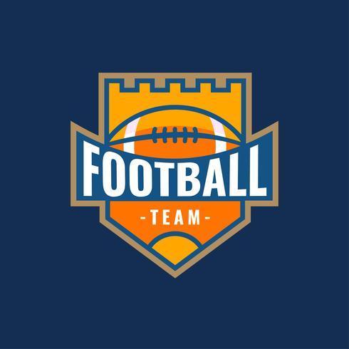 American Football Logo Castle Vector
