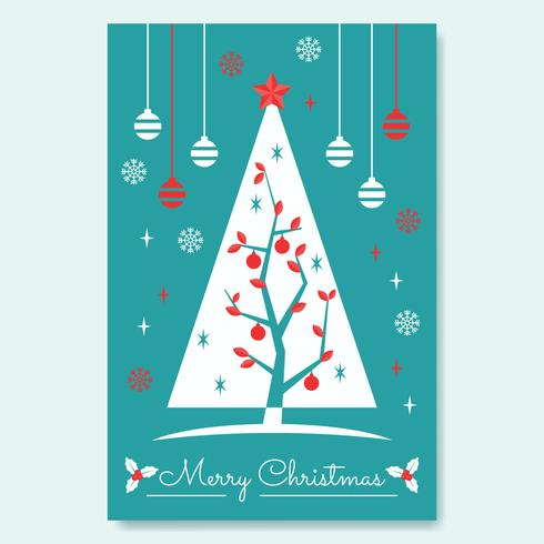 Affisch med jul Mid-Century Tree