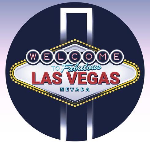 Benvenuto al favoloso segno di Las Vegas Nevada vettore