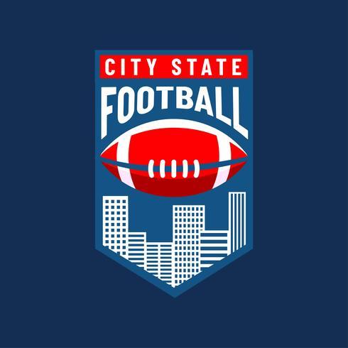 American Football Logo City Team Vector