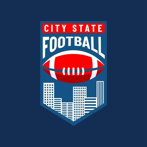 Vetor de equipe de cidade de logotipo de futebol americano