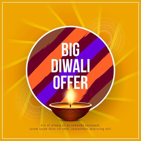Abstrakt stilfull Happy Diwali festival erbjudande bakgrund