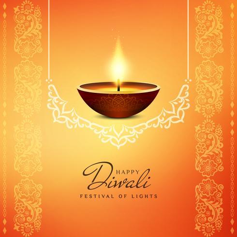Abstrakt religiös Happy Diwali bakgrund