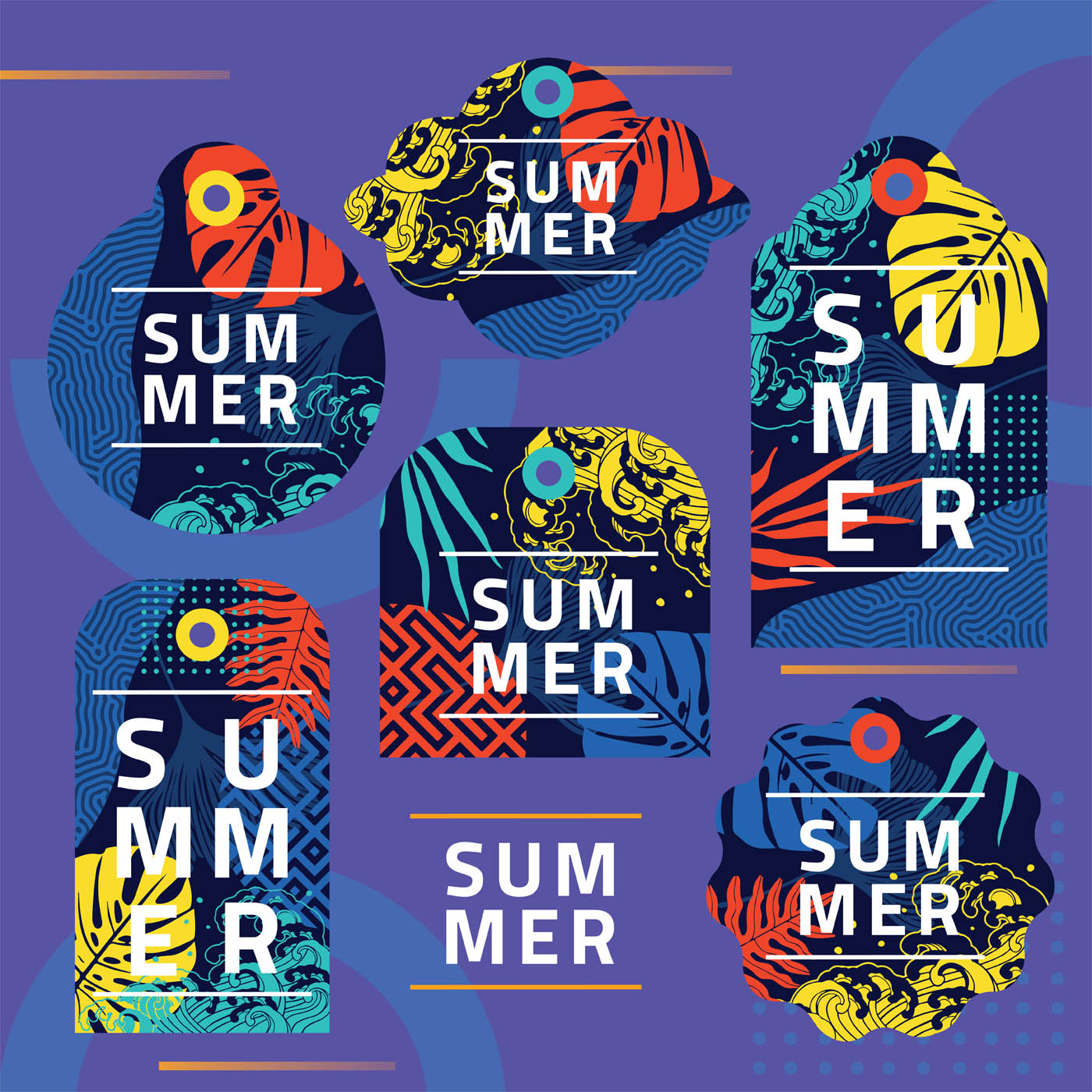 Summer Gift Tags Vector Pack Download Free Vectors Clipart Graphics Vector Art