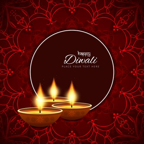 Abstract decorative Happy Diwali background vector