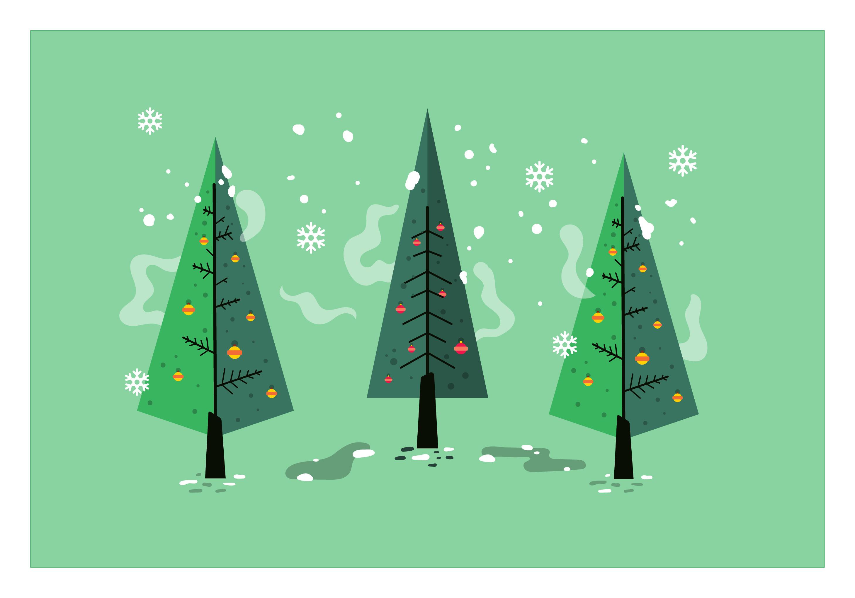 Mid Century Christmas Tree Vector Download Free Vectors