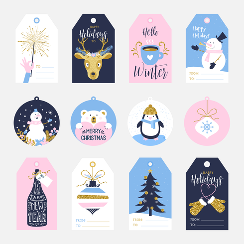 f1daf424e6547 Printable Holiday Gift Tags - Download Free Vector Art
