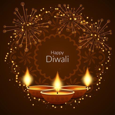 Abstrakt Glad Diwali stilig bakgrund