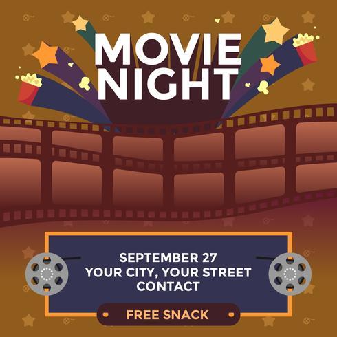 Film-Nacht-festlicher Plakat-Vektor