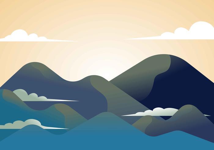 berglandschap eerste persoon vectorillustratie