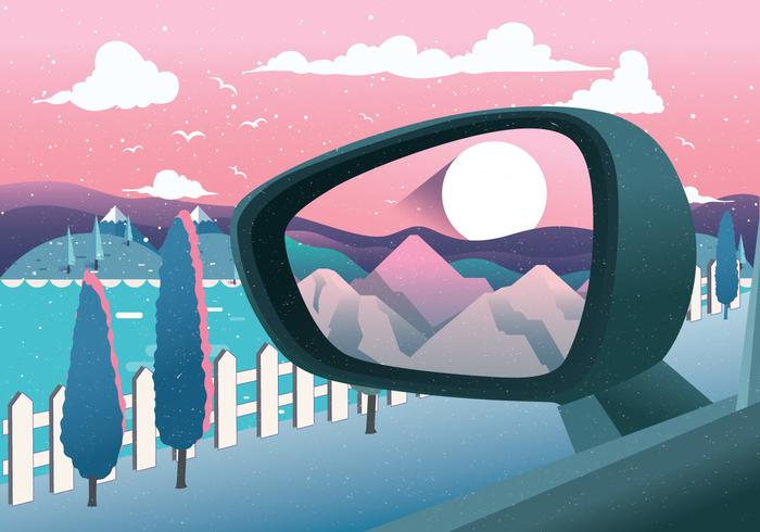 Rear View Mirror Vector