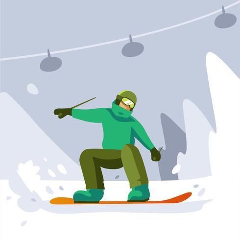 esquiador vector