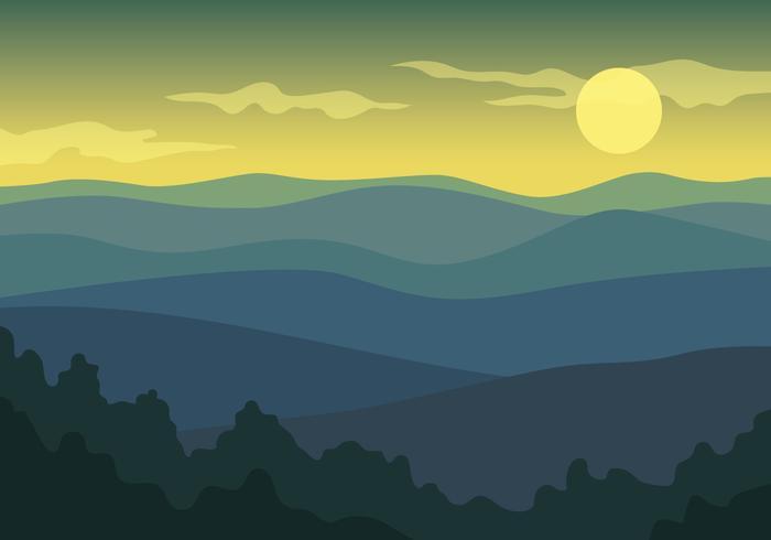 Vista del paisaje de montaña